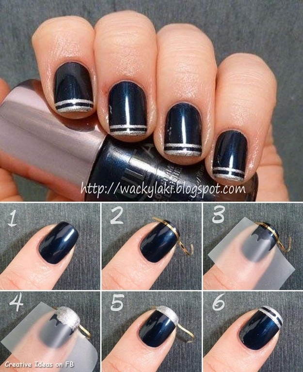 3 Use Thin Nail Tape To Create Designs
